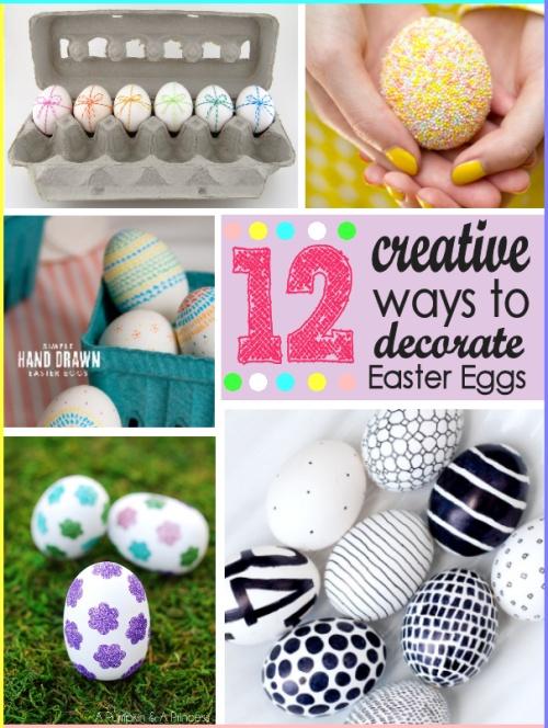 12 formas de decorar huevos